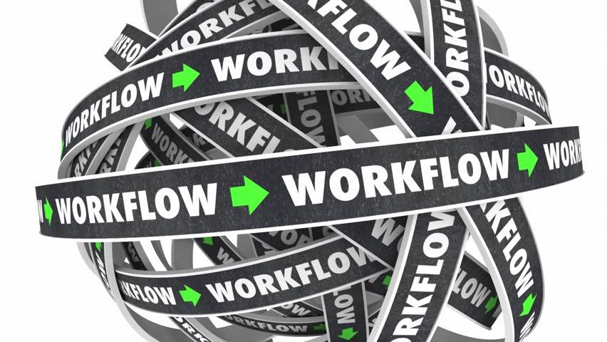 Workflow Process Procedure Loop Instructions 3d Illustration | Shutterstock HD Video #19083703
