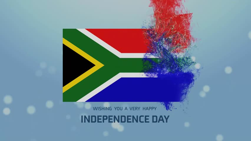 South Africa Map Flag Over Rotating Globe Animation Stock Footage - What does this map tells us about african independence