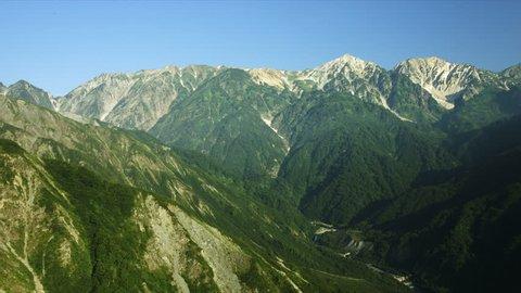 Hakuba mountains in morning