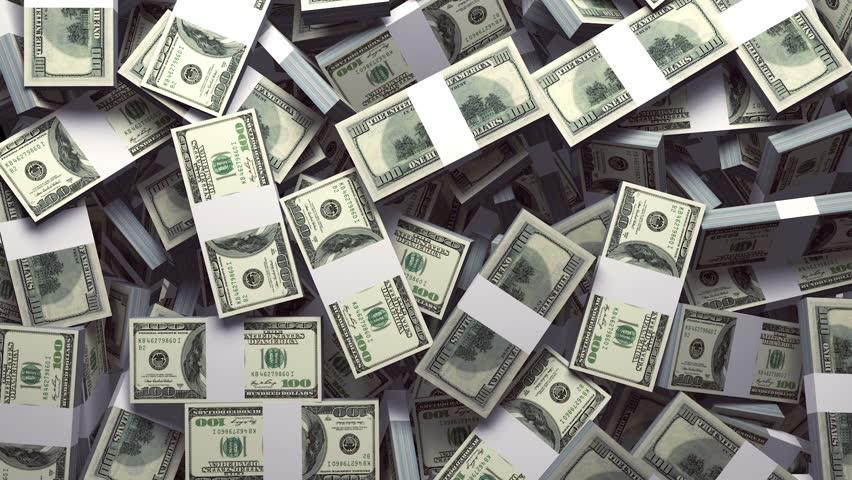 Money Packs Falling Background with Alpha Matte | Shutterstock HD Video #19206880