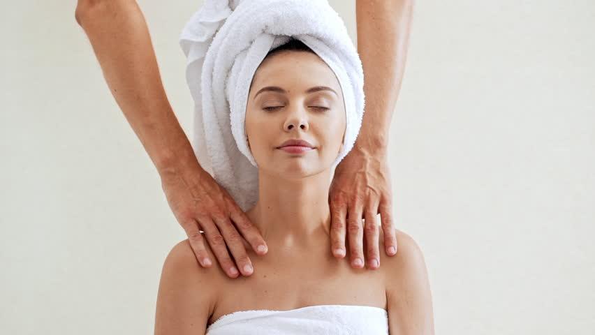 Interesting massage naked girl video
