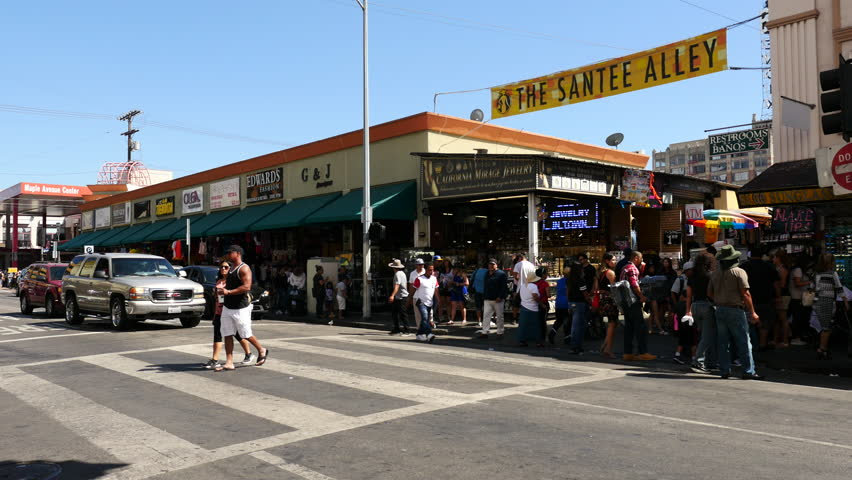 People In Crosswalk Downtown Los Angeles Santee Alley Circa N4ghuw Losangelesfashiondistrict Gif