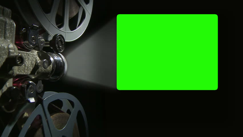 Film Projector With 16 X 9 Aspect Ratio Chroma Key Green