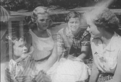A group of pre-adolescent girls talk about sex in 1953. (1950s)