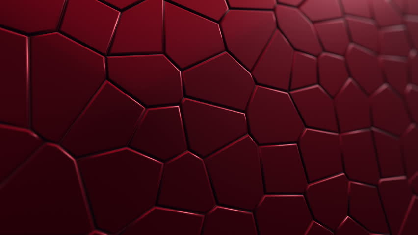 Abstract background with animation moving of dark triangles with glowing light from backdrop. Technologic backdrop with plastic surface. Animation of seamless loop. | Shutterstock HD Video #19444789