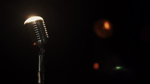 View Concert Metal Microphone Stay Stock Footage Video 100