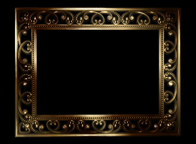 Stock video of gold picture frame with diamond sparkle | 1967230 ...