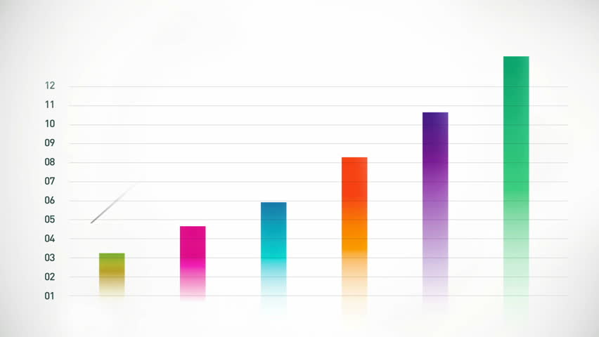 Growing bars stock bar graph blue on white stock footage video financial business diagram chart hd stock video clip ccuart Images