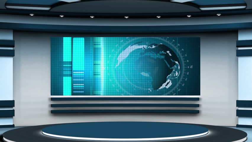 News Tv Studio Set Stock Footage Video 100 Royalty