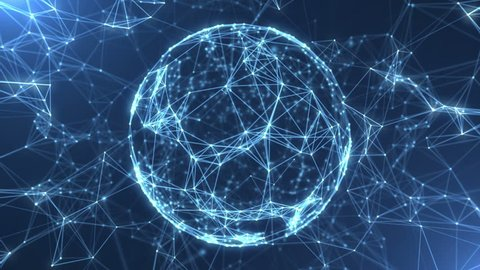 Plexus abstract network titles cinematic background loop
