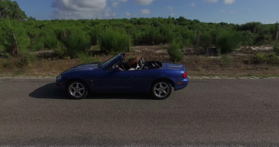 On the road feeling free in cabriolet | Shutterstock HD Video #19849039