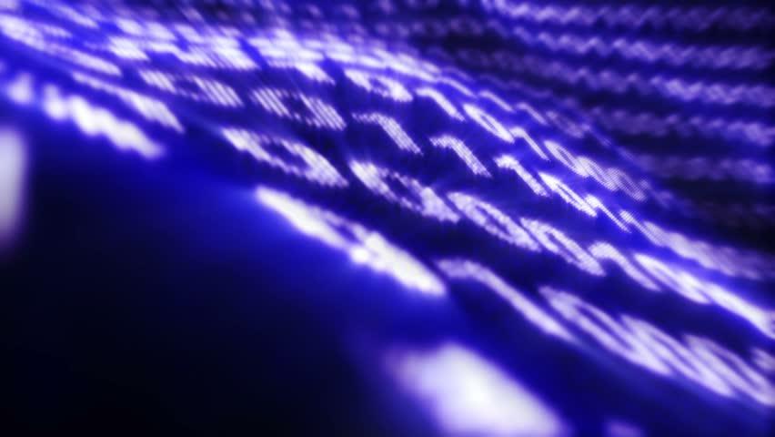 Binary Code Numbers Background, Loop, 4k  | Shutterstock HD Video #19857124