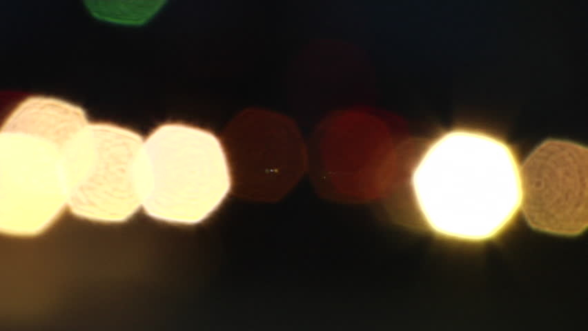 traffic on bridge at night
