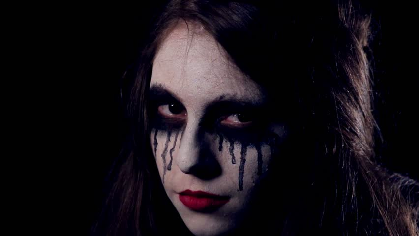 Halloween scary girl close-up | Shutterstock HD Video #19880686