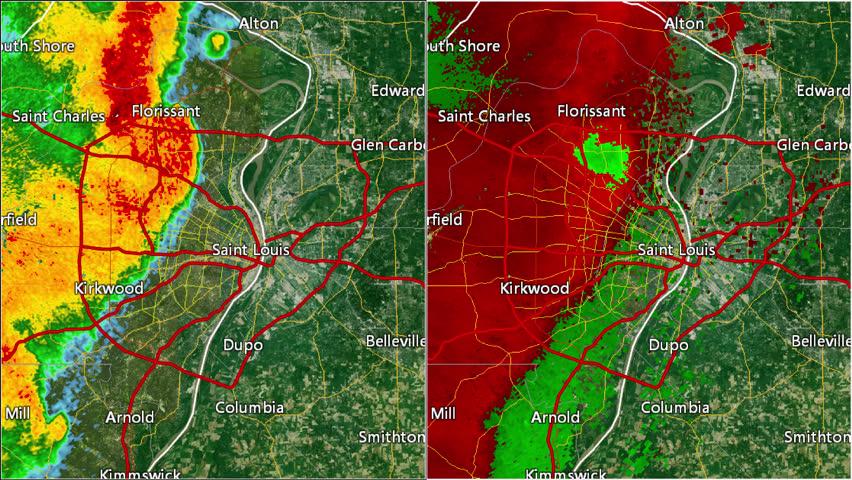 2013 St Louis Missouri Tornado Reflectivity Velocity Split Pursuant To 17