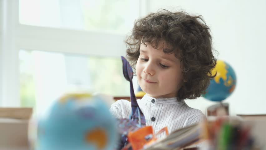Child And Book Cute Boy Stock Footage Video 100 Royalty Free 19899010 Shutterstock