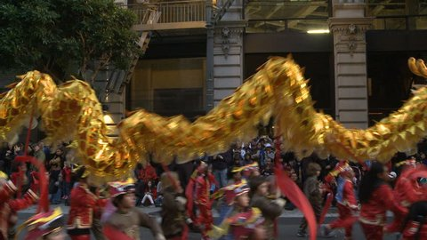 SAN FRANCISCO - FEB 11: Chinese New Year Parade on February 11, 2012 in San Francisco.