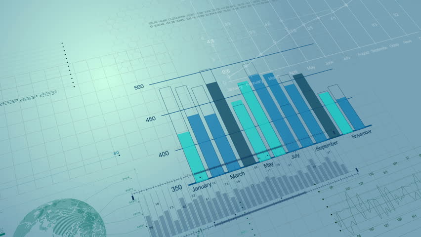 Beautiful looped 3d animation of Stock Market Financial Figures and Diagrams Growing on Digital background. HD 1080. Loop. | Shutterstock HD Video #19916050