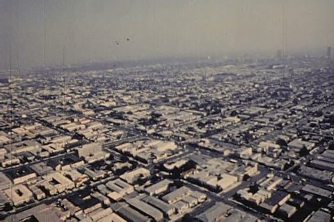 The thriving and multicultural city of Los Angeles is run by Mayor Tom Bradley. (1970s)