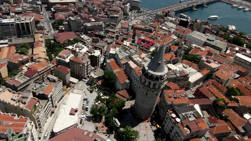 Aerial view of the galata tower acute angel october 28, 2011 ower istanbul