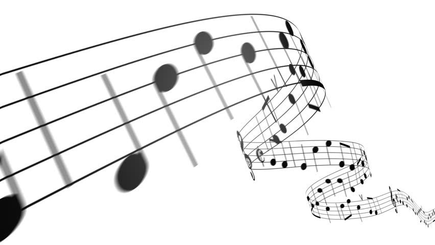 Music notes flowing on white background. Seamless animation. HD 1080. | Shutterstock Video #1994048