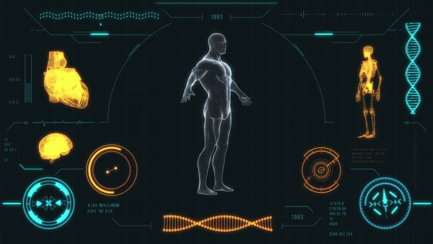 Futuristic Medical User Interface With Stock Footage Video 100