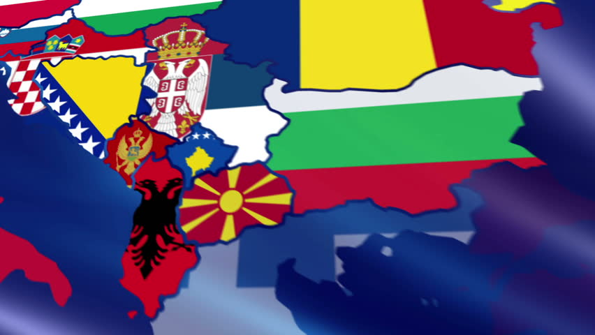 Map Of Europe With Flags Stock Footage Video Shutterstock - Portugal map flag
