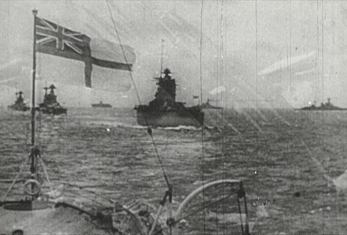 EUROPE - CIRCA 1942-1944: World War II, British Battleships and Bombers