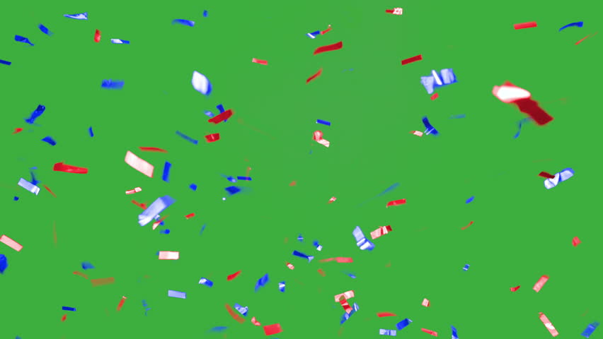 real falling confetti in the colors blue and red for  advertising, family, club, victories, national or company celebration