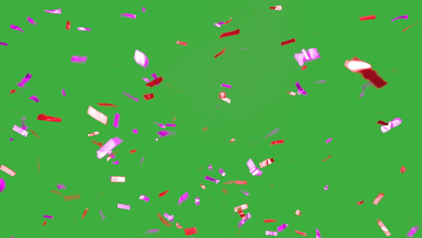 real falling confetti in the colors magenta and red for  advertising, family, club, victories, national or company celebration