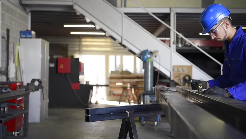 Metalwork student training in workshop   Shutterstock HD Video #20092084