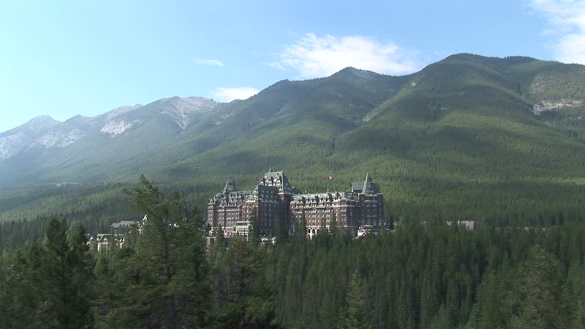 View of Banff National Park from Fairmount hotel