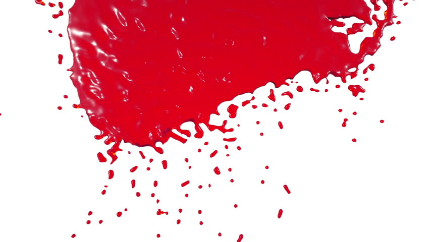 Stock Video Clip of Red paint dripping down over screen. syrup ...