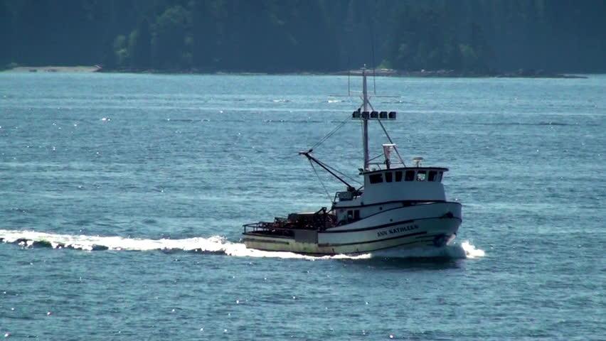 Fishing boat, Ann Kathleen in ocean inlet