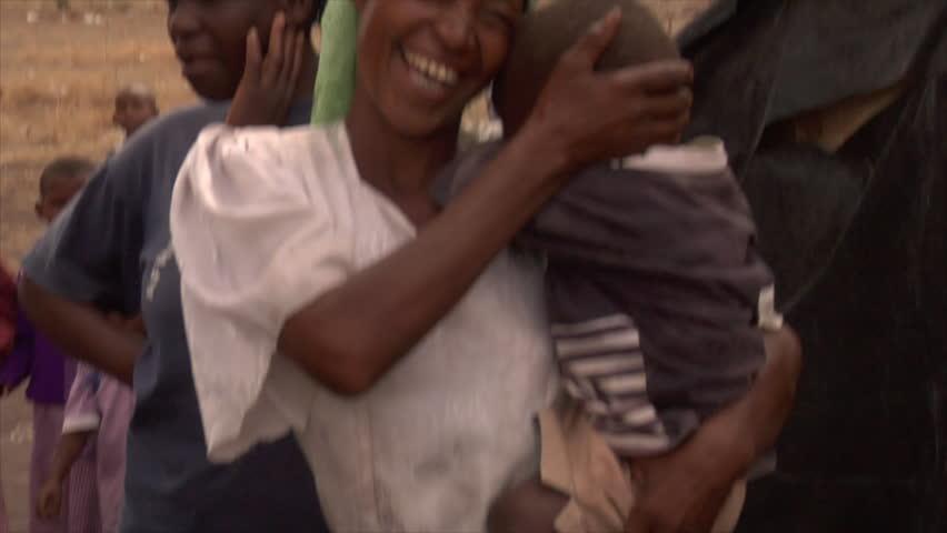 KENYA - CIRCA 2006: Unidentified mother holds her baby circa 2006 in Kenya.