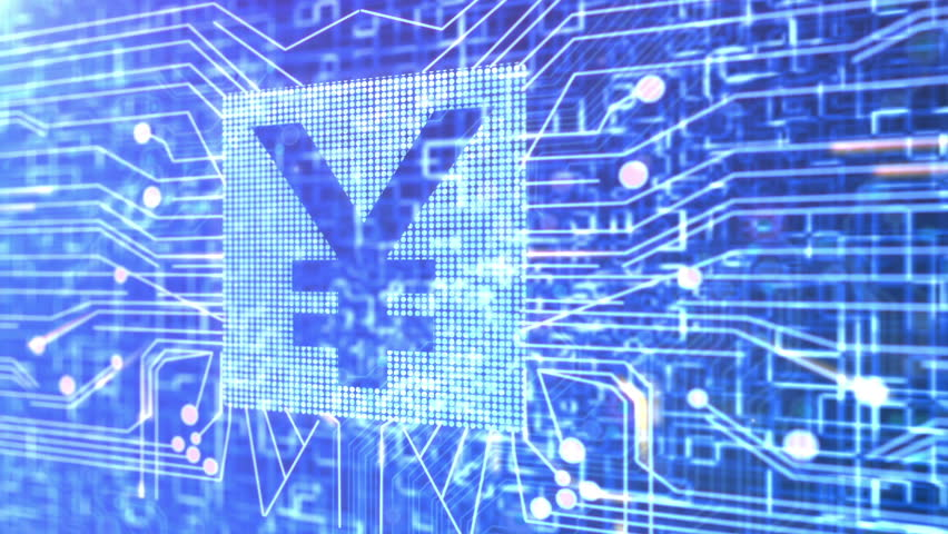 Animation of a circuit board and a Yen currency symbol. | Shutterstock HD Video #2029780