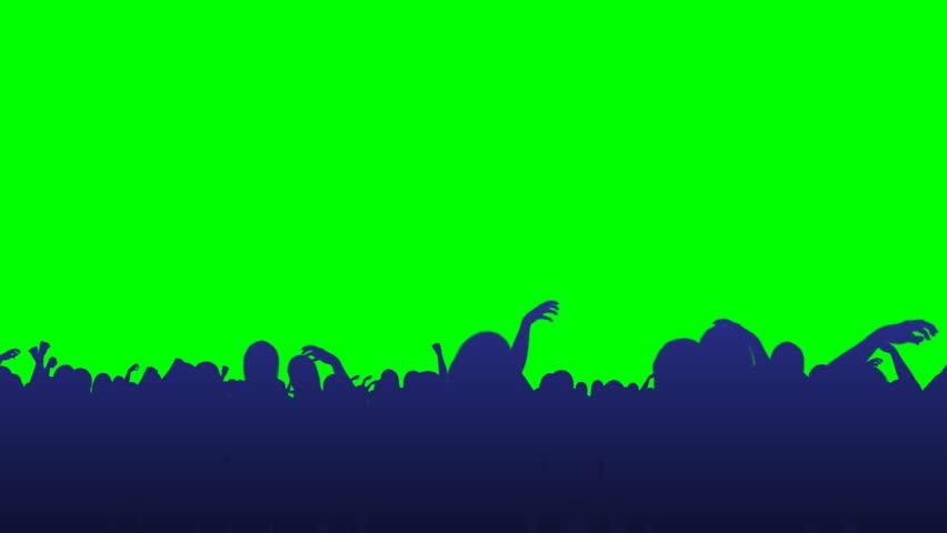 Crowd Flythrough - Green Screen #2035000