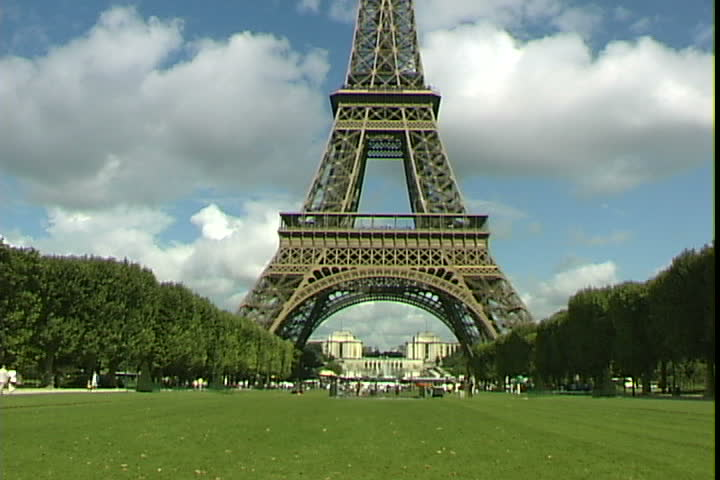 view from the bottom of the eiffel tower in paris france stock footage video 2018728 shutterstock. Black Bedroom Furniture Sets. Home Design Ideas