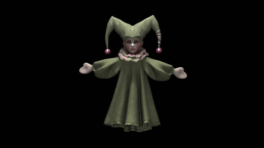 Dancing Harlequin Puppet - Ii Stock Footage Video (100% Royalty-free)  20393140 | Shutterstock