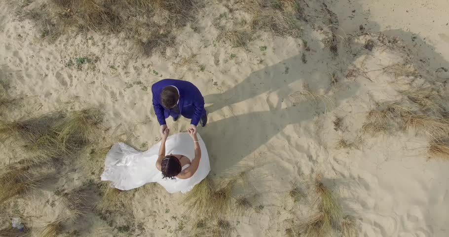 Beautiful couple on the beach in love | Shutterstock HD Video #20446090