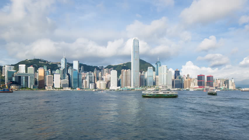 Night View of the famous Hong Kong Skyline seen from the Kowloon Side of the Harbour, Hong Kong, China, Asia (Jul 2016, Hong Kong) | Shutterstock HD Video #20465770