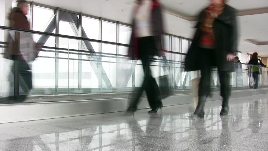 Crowd and escalator   Shutterstock HD Video #205150