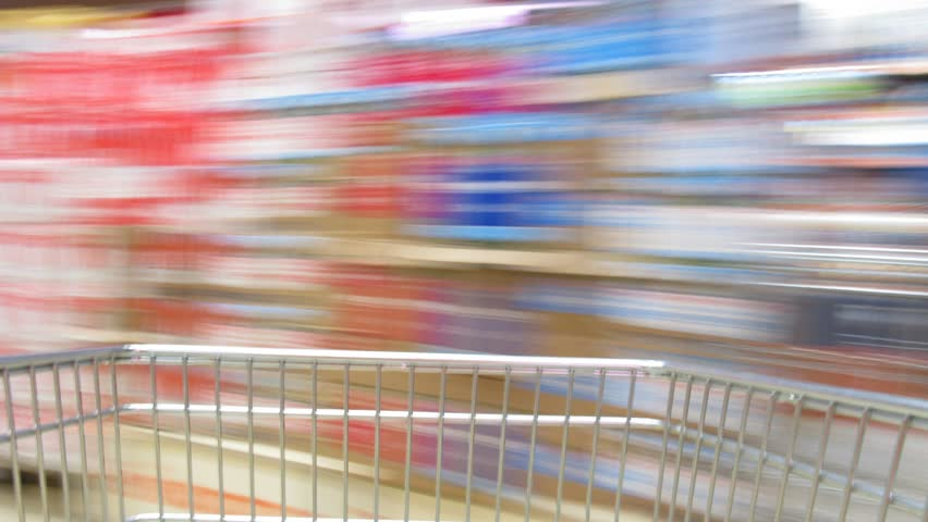 shopping cart time lapse
