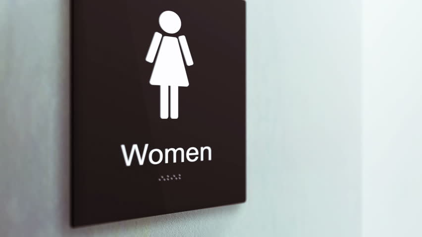 Close Up of a Women's bathroom sign in a corporate hallway CI0000121 October 2016