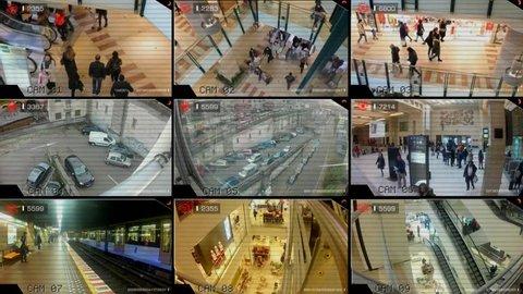 surveillance camera around the mall