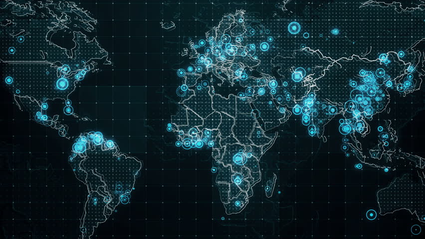 Abstract world map glow particles and contours map different decreases diagram on the world map the video of animated diagrams on the world map gumiabroncs Image collections
