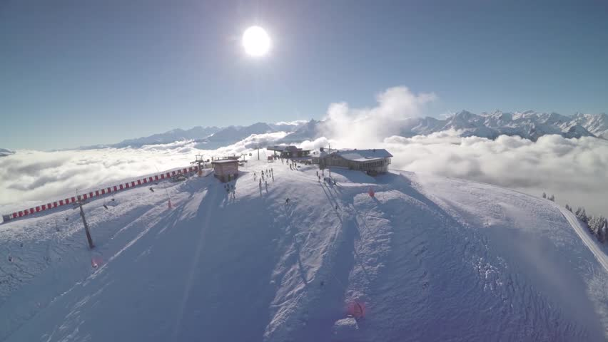Skiing Area in Kitzbuehel Austria - Winter landscape #20678410