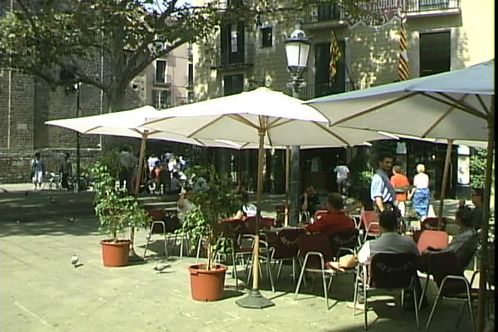 Outdoor Cafe   SD Stock Video Clip