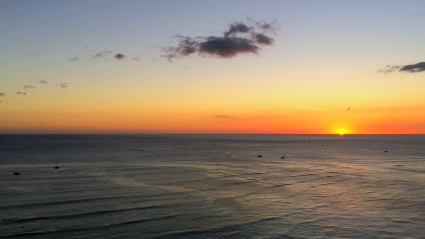 Sunset At Waikiki Beach Honolulu Stock Footage Video 100 Royalty Free 20733310 Shutterstock