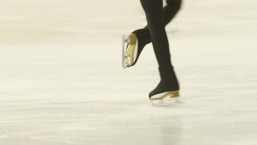 Slender legs of girl skater. competitions in figure skating, performance of young athletes | Shutterstock HD Video #20733730
